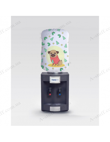 """Case for bottle """"New Year Pug"""""""