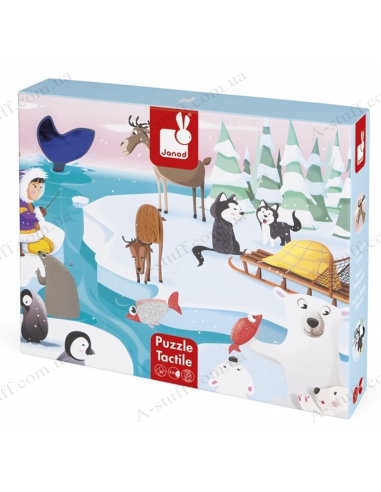 Puzzle tactile Janod Life on ice 20 el.