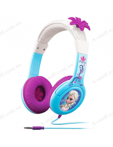 EKids Disney headphones Frozen, Queen Anna and Elsa, Kid-friendly volume