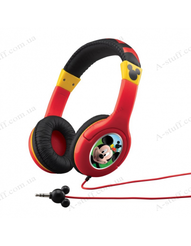 Earphones eKids Disney Mickey Mouse, Kid-friendly volume