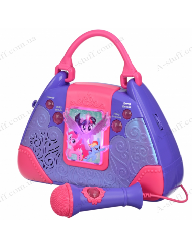 Acoustic system with microphone eKids Disney My Little Pony, Karaoke, Lights flash, mini-jack