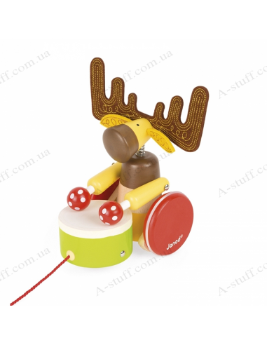 Toy - wheelchair Janod Elk with drum