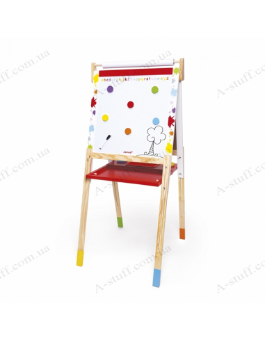 Janod double-sided wooden easel