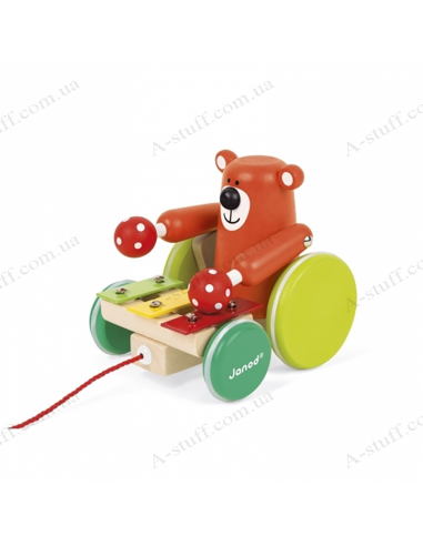 Rolling toys Janod Bear with xylophone
