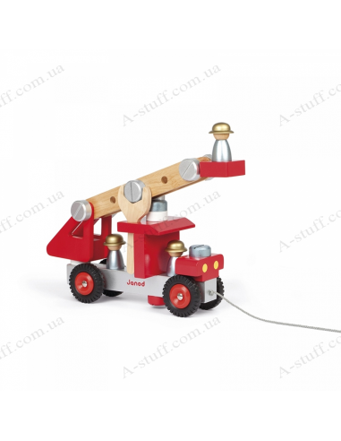 Game set Janod Fire engine with tools
