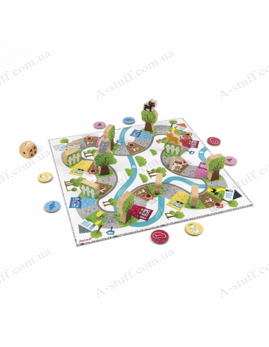 Board game Janod Racing cat-thief