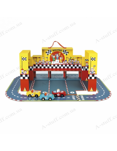 Game set with a track Janod Racing