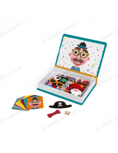 Magnetic book Janod Funny Faces - Boy
