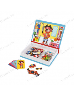 Janod Magnetic book outfits for boys