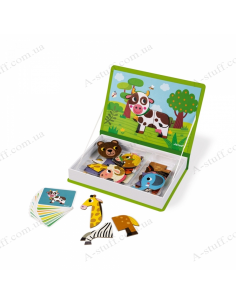 Magnetic book Janod Animals