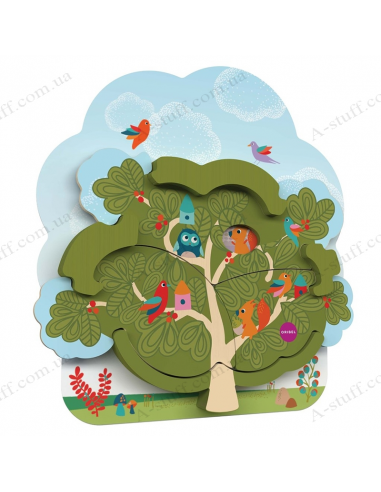 Wall toy Oribel Veritiplay House of Mr. Squirrel on the tree