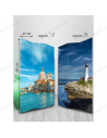 """Double-sided folding screen """"Lighthouse"""""""