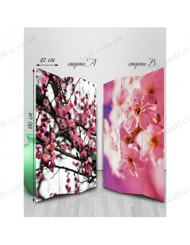 """Ширма двухсторонняя """"Flowers of spring mood"""""""