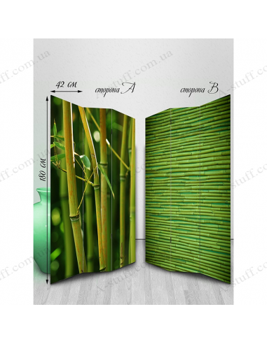 "Double-sided folding screen ""Bamboo"""