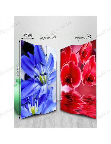 """Ширма двухсторонняя """"A variety of flowers"""""""