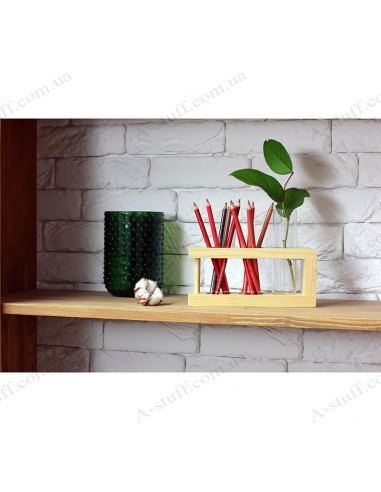 Wooden stand with 1 cylinder (natural)