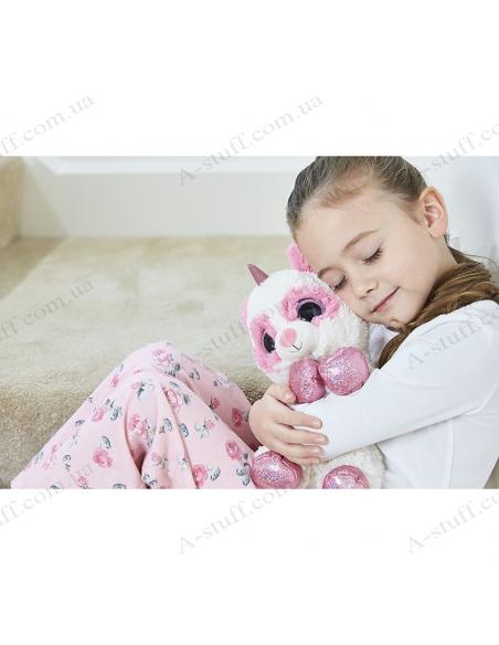 """Грілка іграшка """"Крихітка Єдиноріг"""" біло-рожевий"""