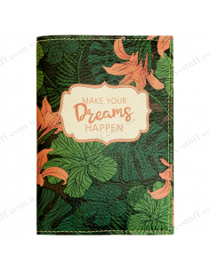 "Passport cover ""Make your dreams happen"""