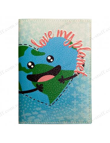 "Passport cover ""Love my planet"""