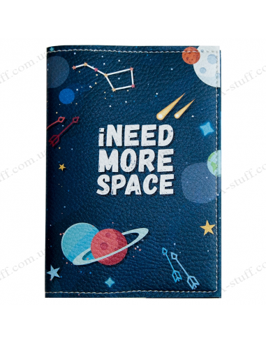 """Passport cover """"iNEED MORE SPACE"""""""