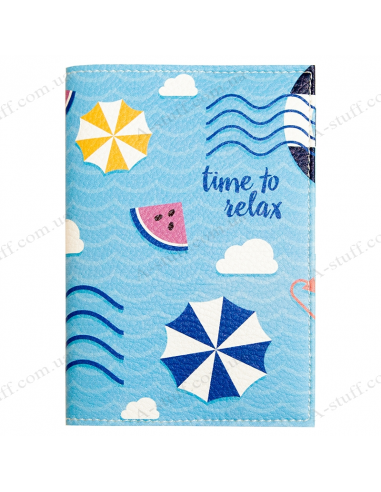 """Passport cover """"Time to relax"""""""