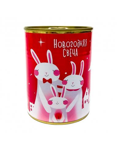 """Консерва - свічка """"Новорічна свічка"""""""