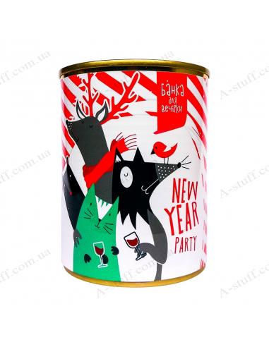 """Банка для вечеринки """"New year party"""""""