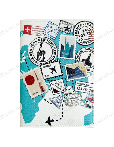 """Passport cover """"Stamps"""""""