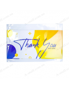 "Postcard for money ""Thank you"""