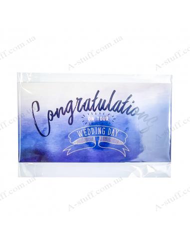 """Листівка для грошей """"Congratulations on your wedding day"""""""