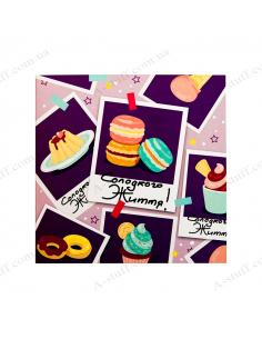 "Postcard - chocolate ""Sweet life"""