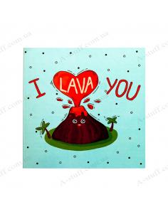 "Postcard - chocolate ""I lava you"""