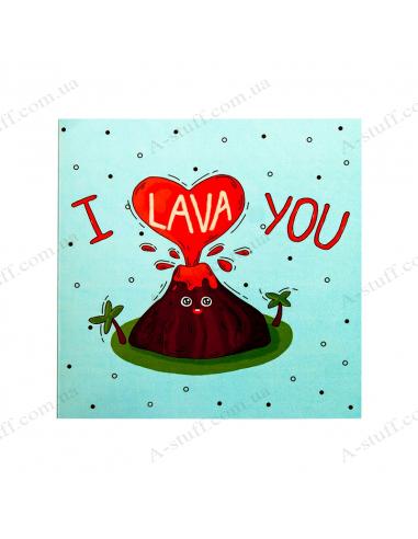 "Открытка - шоколадка ""I lava you"""