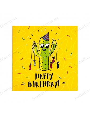 """Листівка з шоколадкою """"Happy birthday!"""""""