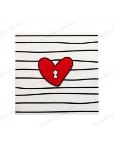 "Открытка с шоколадкой ""Ключ от сердца"""