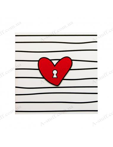"""Листівка з шоколадкою """"Ключ від серця"""""""