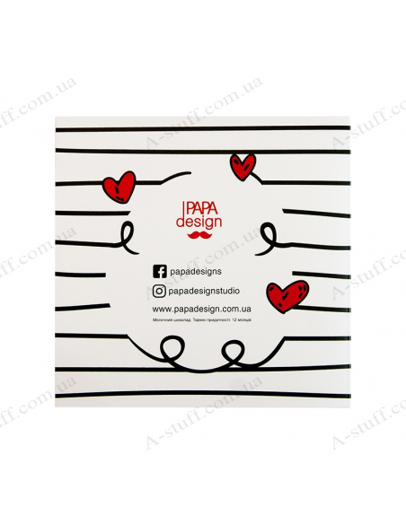 """Postcard with chocolate """"The key to the heart"""""""