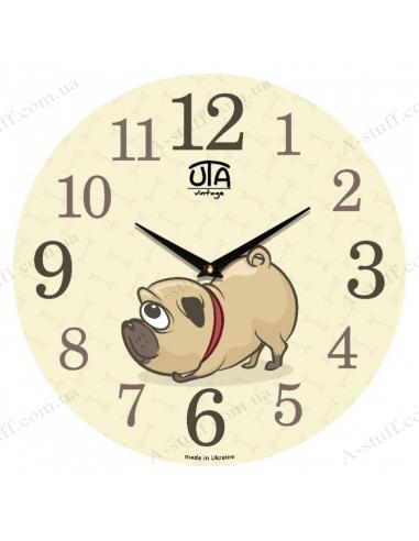 """Годинник настінний """"Мопс"""""""