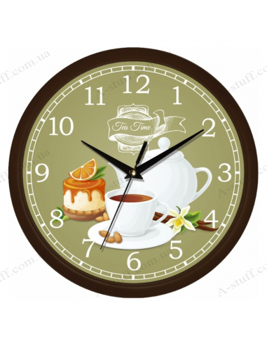 """Настінний годинник """"Tea time 3"""""""