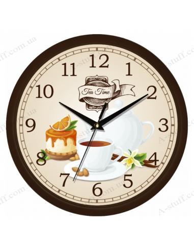 """Настінний годинник """"Tea time 4"""""""