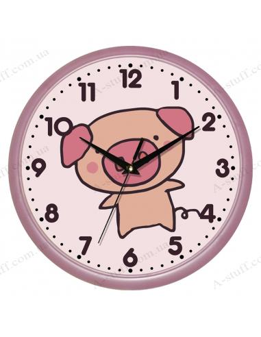 """Настінний годинник """"Миле поросятко"""""""