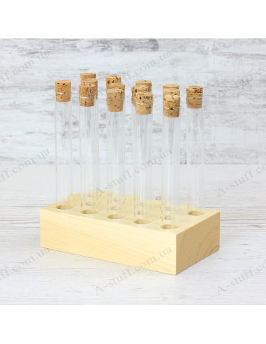 """A set for spices """"Tripod and 14 tubes"""" (natural)"""