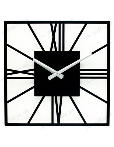 Designer wall clock New York Black