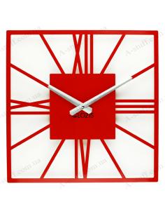 Дизайнерський настінний годинник New York Red