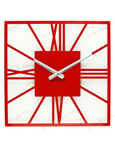 Designer wall clock New York Red