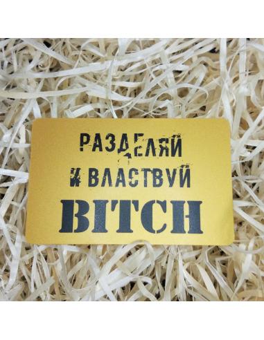 """Листівка картка в гаманець """"Розділяй і володарюй"""""""