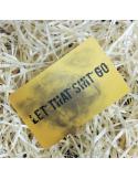 """Открытка карточка в кошелёк """"Let that shit go"""""""