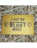 """Листівка картка в гаманець """"I love you BERRY much"""""""