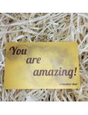 """Открытка карточка в кошелёк """"You are amazing"""""""