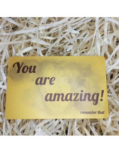 "Листівка картка в гаманець ""You are amazing"""